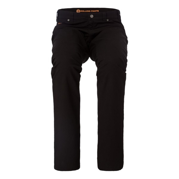 "CHRIS Herren Hose Schwarz im ""Loose fit"" Style in Stretch Gabardine Waffel-Piquet Optik"