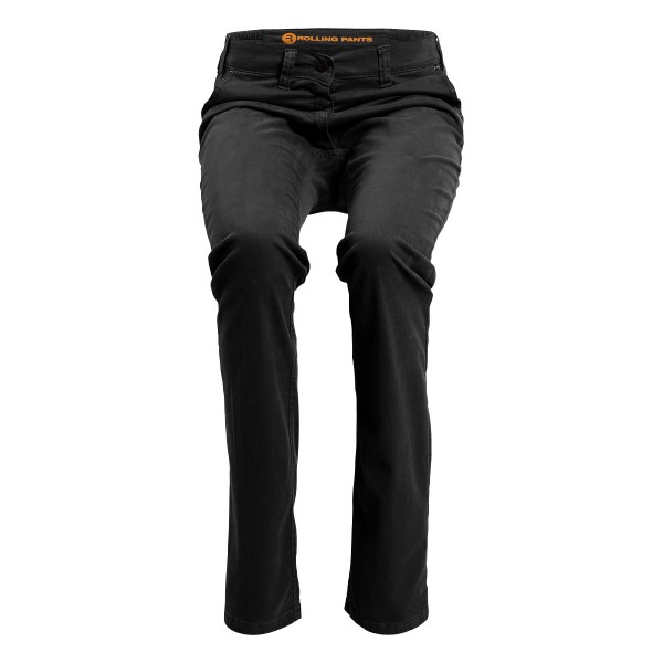 "KIM Damen Chino Schwarz im ""Loose fit"" Style in Gabardine"