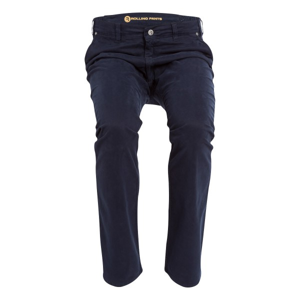 "KAI Herren Chino Blau im ""Loose fit"" Style in Gabardine"