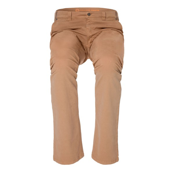 "KLAAS Herren Chino in Camel im ""Slim fit"" Style in Gabardine"