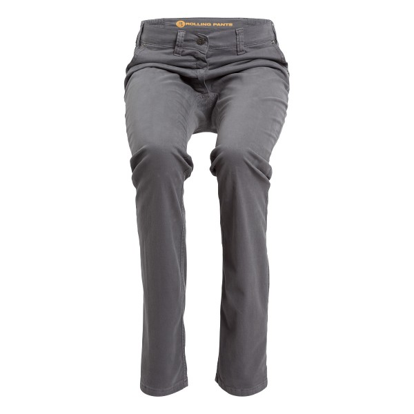 "KIM Damen Chino Grau im ""Loose fit"" Style in Gabardine"