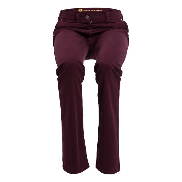 "KIM Damen Chino Rot im ""Loose fit"" Style in Gabardine"