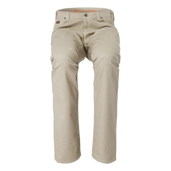 "CHRIS Herren Hose Beige im ""Loose fit"" Style in Stretch Gabardine Waffel-Piquet Optik"