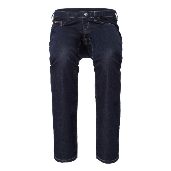 LEON Schlupf-Jeans 5-Pocket-Style in dark blue Tencel Denim