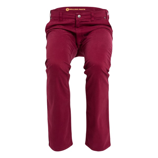 "KAI Herren Chino Rot im ""Loose fit"" Style in Gabardine"