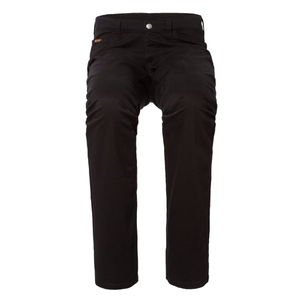 LEON Schlupf-Jeans 5-Pocket-Style in schwarzem Stretch Gabardine