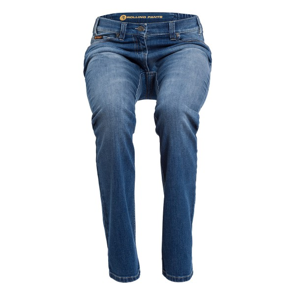 "CARA Damen-Jeans used Optik im ""Loose fit"" 5-Pocket Style in stretch Denim"