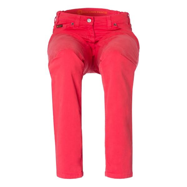 "CARA Damen Hose Rot im ""Loose fit"" 5-Pocket Style in Stretch Gabardine"