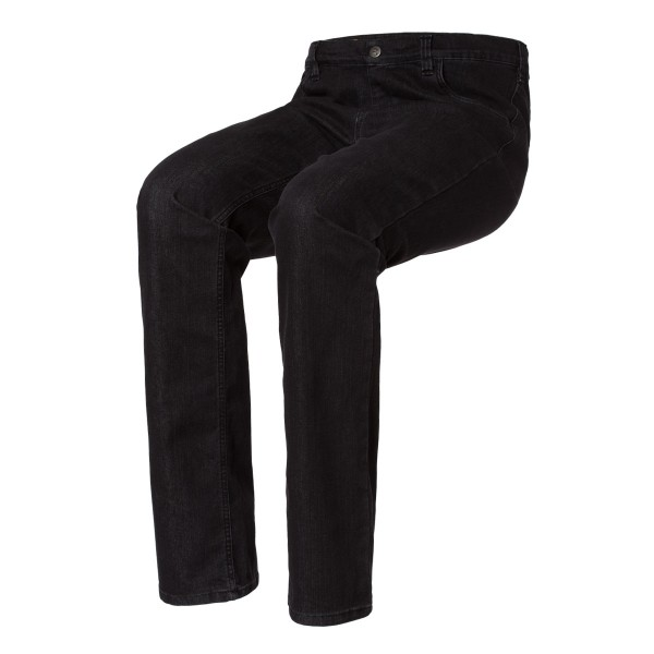 LEON Schlupf-Jeans 5-Pocket-Style in Black Denim