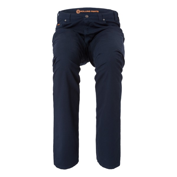 "CHRIS Herren Hose Blau im ""Loose fit"" Style in Stretch Gabardine Waffel-Piquet Optik"