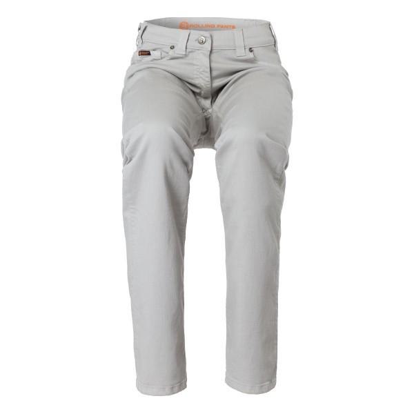 "CARA Damen Hose Grau im ""Loose fit"" 5-Pocket Style in Tencel Gabardine"